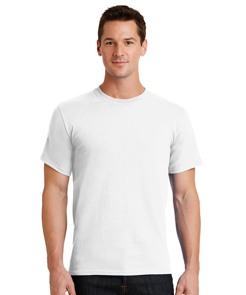 Short Sleeve 100% Cotton Classic Men's T-Shirts (White) as shown in the UniFirst Uniform Rental Catalog.