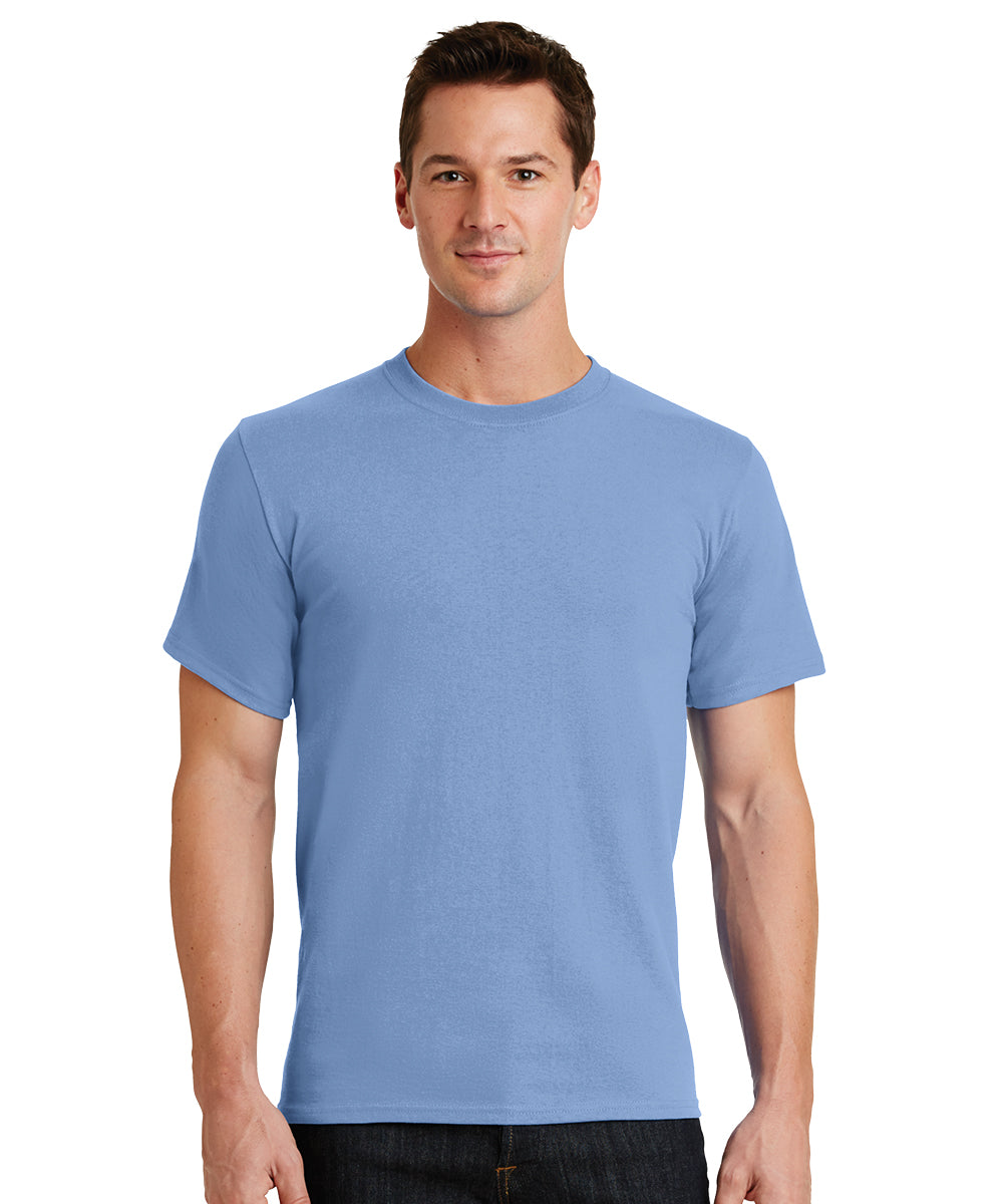 Short Sleeve 100% Cotton Classic Men's T-Shirts (Lt. Blue) as shown in the UniFirst Uniform Rental Catalog.