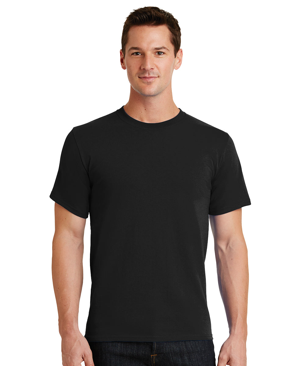 Short Sleeve 100% Cotton Classic Men's T-Shirts (Black) as shown in the UniFirst Uniform Rental Catalog.