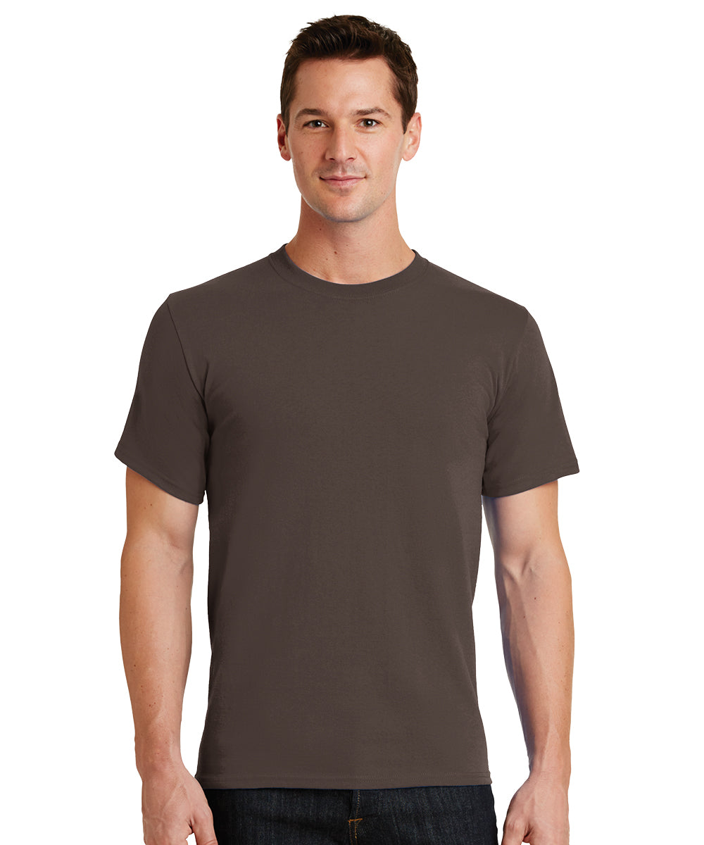 Short Sleeve 100% Cotton Classic Men's T-Shirts (Brown) as shown in the UniFirst Uniform Rental Catalog.