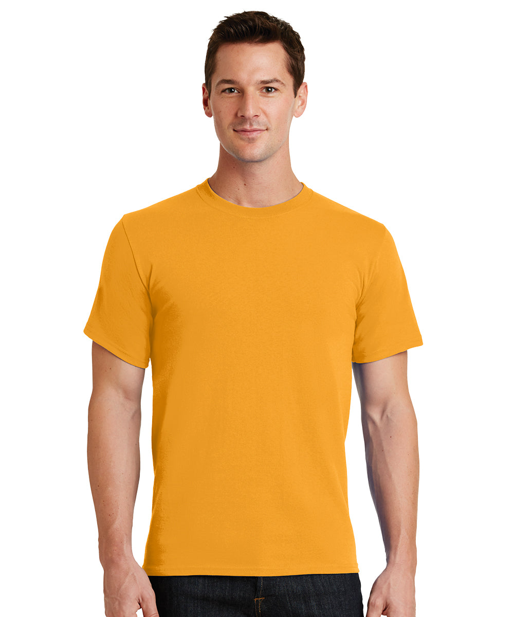 Short Sleeve 100% Cotton Classic Men's T-Shirts (Gold) as shown in the UniFirst Uniform Rental Catalog.