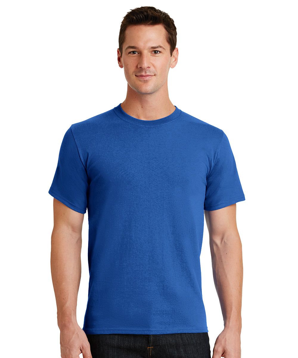 Short Sleeve 100% Cotton Classic Men's T-Shirts (Royal Blue) as shown in the UniFirst Uniform Rental Catalog.