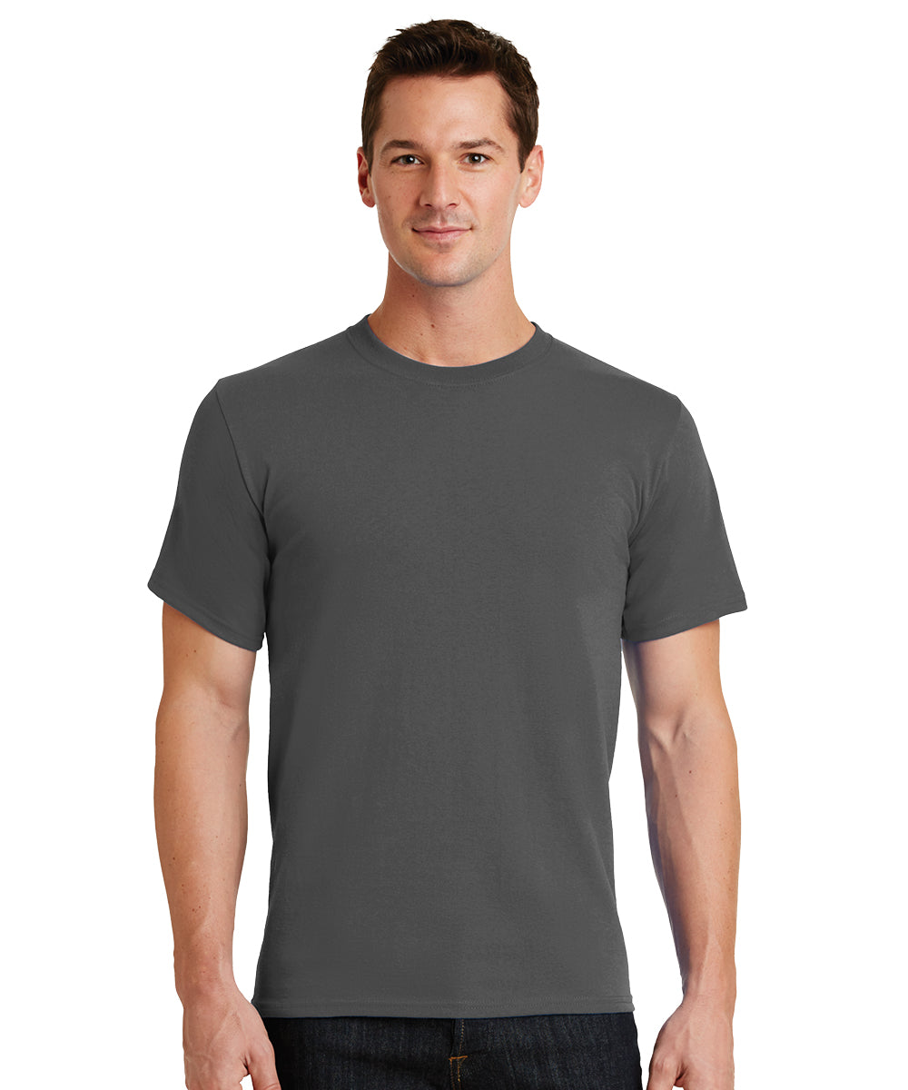 Short Sleeve 100% Cotton Classic Men's T-Shirts (Charcoal) as shown in the UniFirst Uniform Rental Catalog.