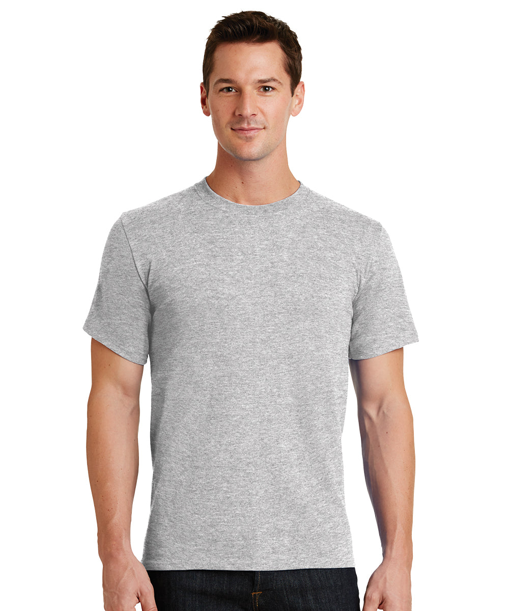 Short Sleeve 100% Cotton Classic Men's T-Shirts (Ash) as shown in the UniFirst Uniform Rental Catalog.