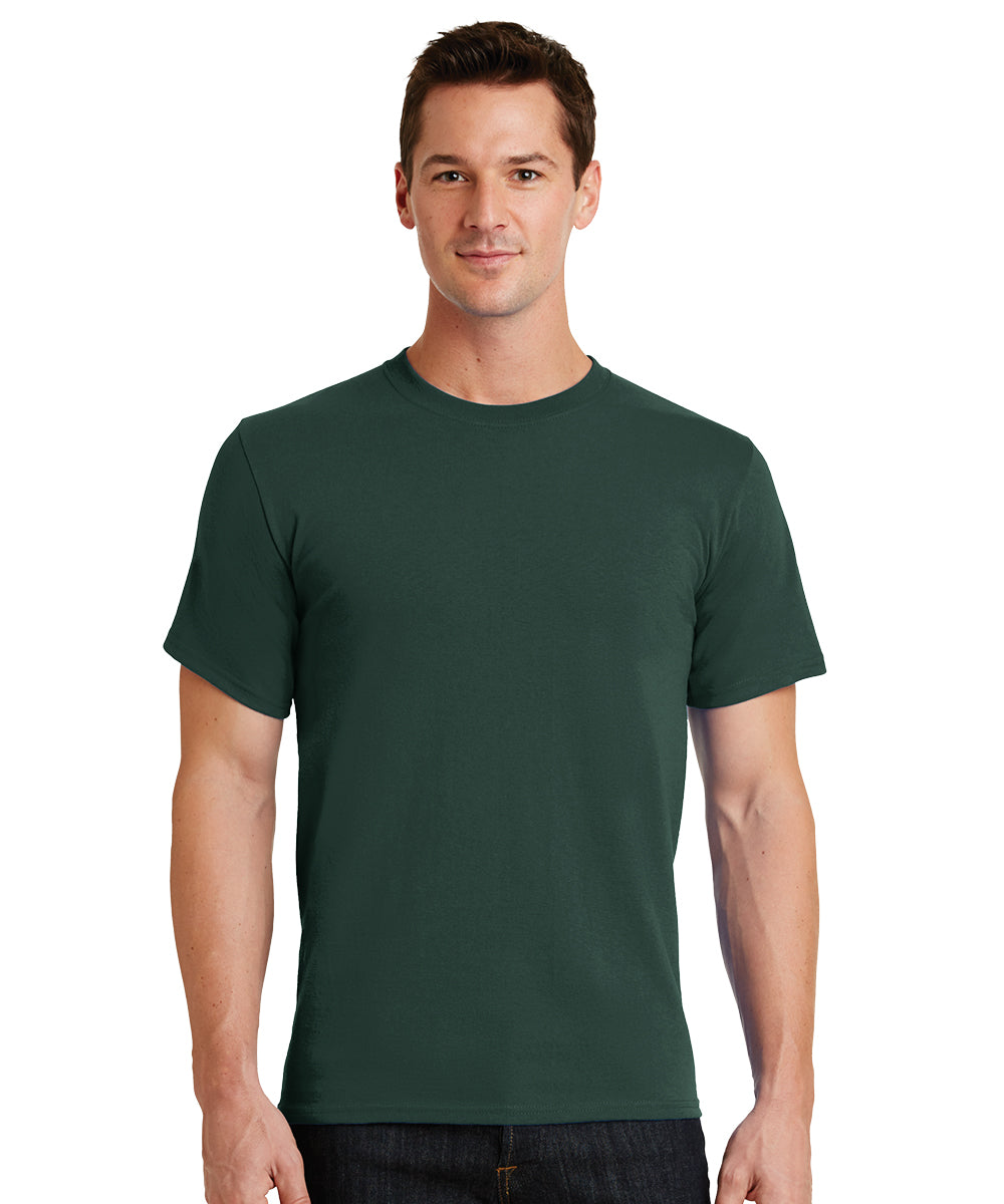 Short Sleeve 100% Cotton Classic Men's T-Shirts (Dark Green) as shown in the UniFirst Uniform Rental Catalog.