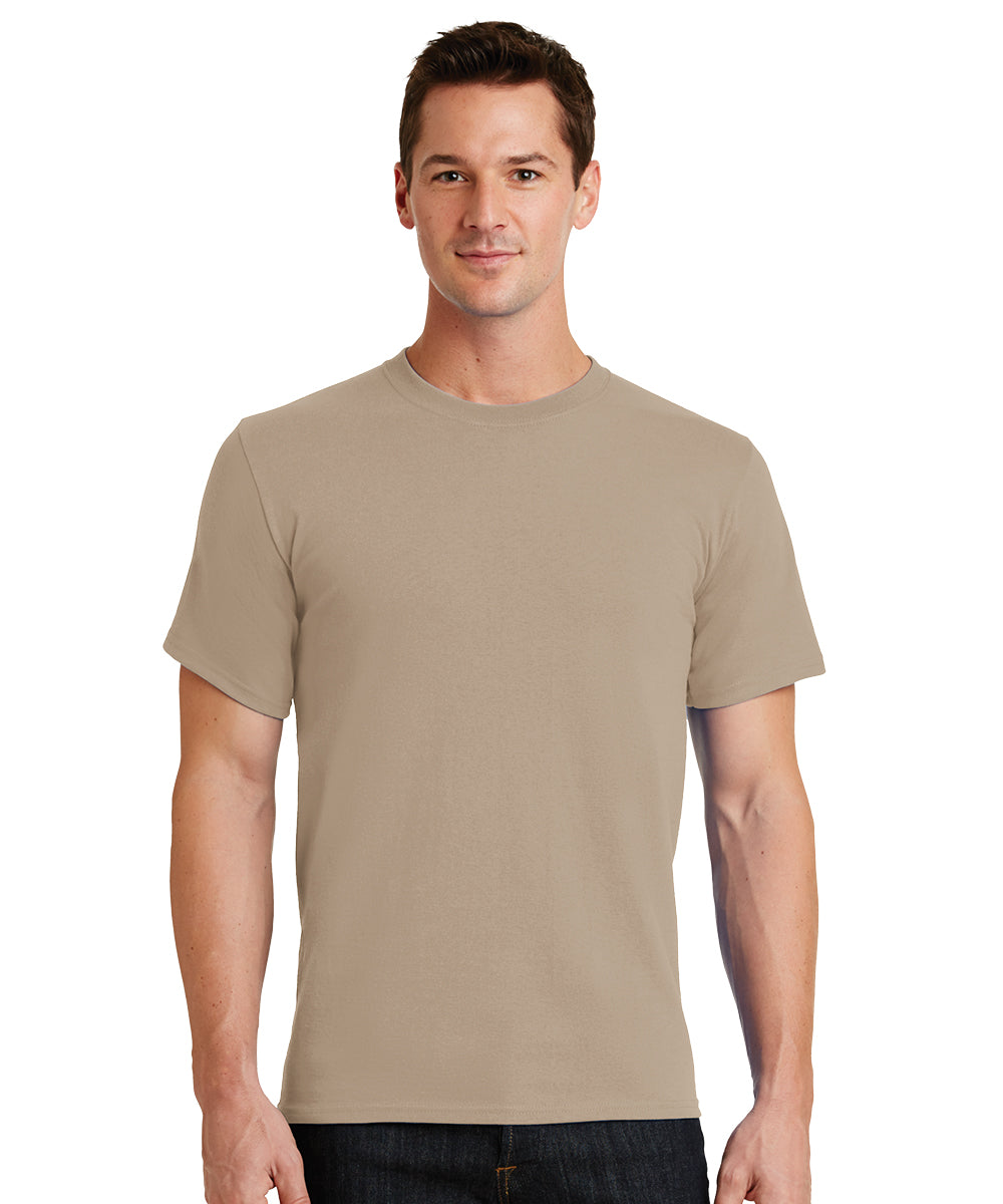 Short Sleeve 100% Cotton Classic Men's T-Shirts (Sand) as shown in the UniFirst Uniform Rental Catalog.