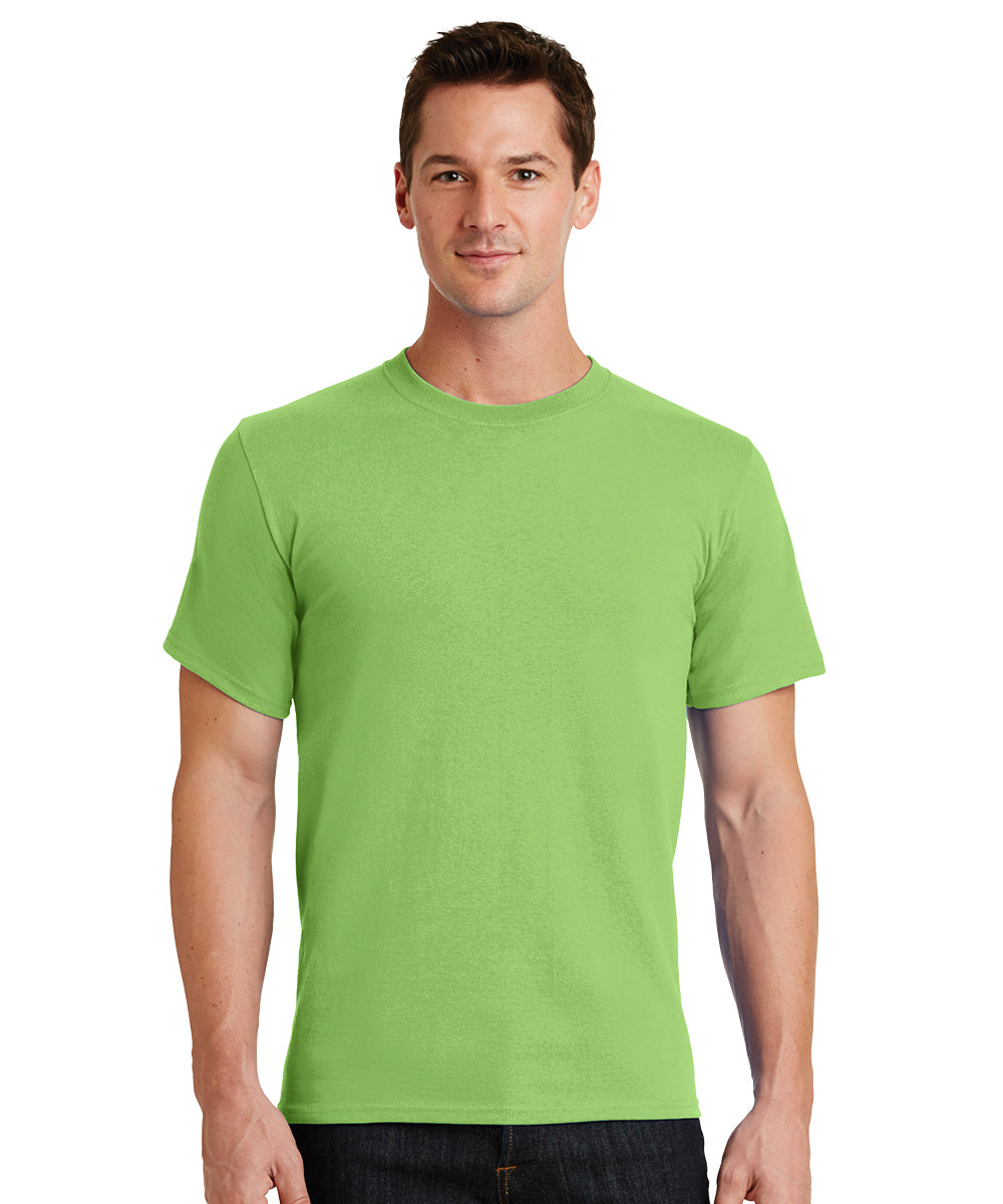 Short Sleeve 100% Cotton Classic Men's T-Shirts (Lime Green) as shown in the UniFirst Uniform Rental Catalog.