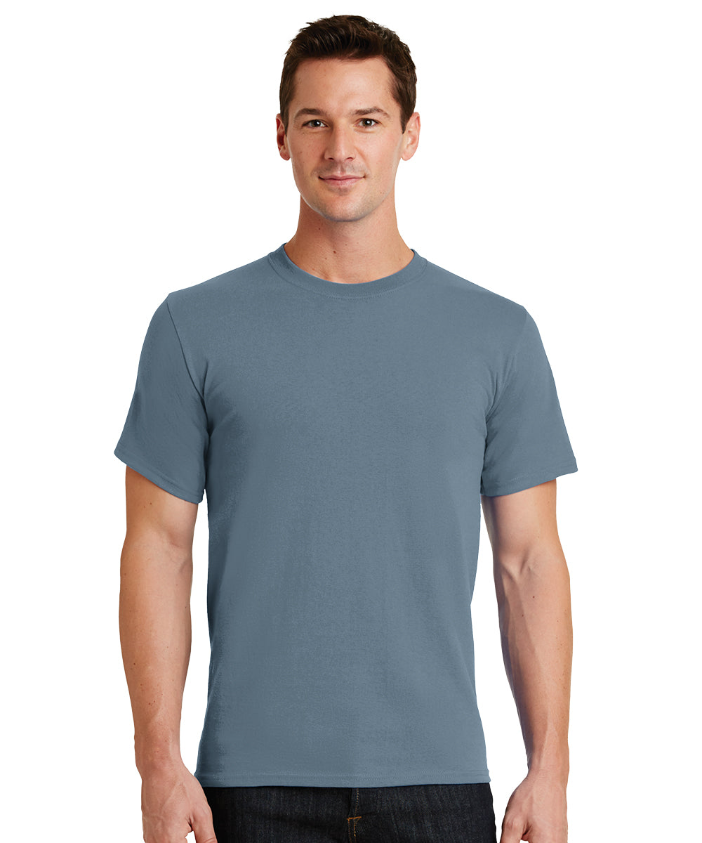 Short Sleeve 100% Cotton Classic Men's T-Shirts (Stonewashed Blue) as shown in the UniFirst Uniform Rental Catalog.
