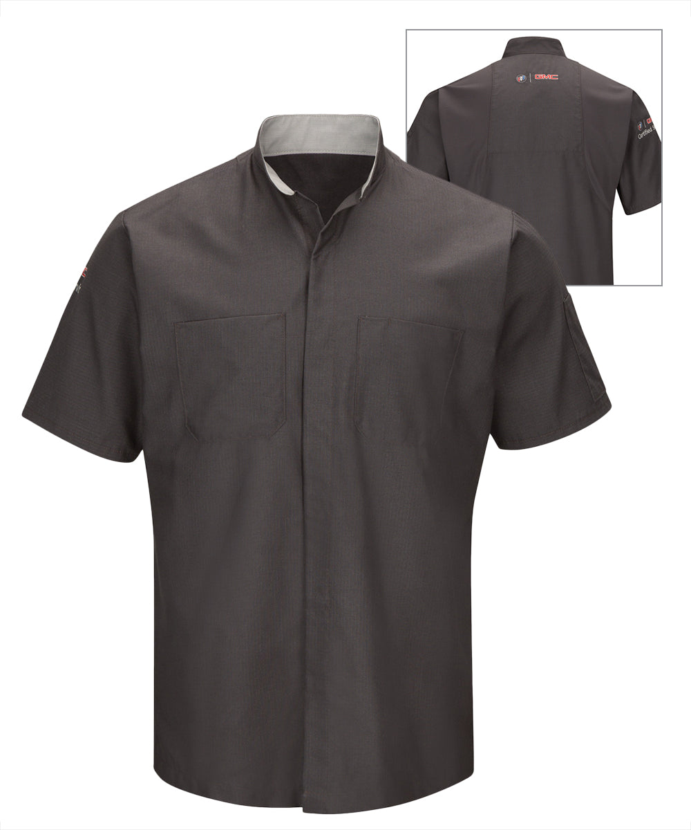Short sleeve Buick® GMC® Technician Shirts (Charcoal) as shown in the UniFirst Uniform Rental Catalog