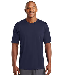 Men's Sport-Tek® PosiCharge® Tough Tees™ T-Shirt (Navy) as shown in the UniFirst Uniform Rental Catalog
