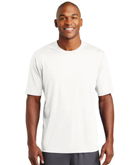 Men's Sport-Tek® PosiCharge® Tough Tees™ T-Shirt (White) as shown in the UniFirst Uniform Rental Catalog