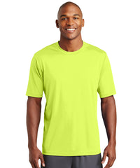 Men's Sport-Tek® PosiCharge® Tough Tees™ T-Shirt (Fluorescent Yellow) as shown in the UniFirst Uniform Rental Catalog