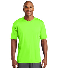 Men's Sport-Tek® PosiCharge® Tough Tees™ T-Shirt (Neon Green) as shown in the UniFirst Uniform Rental Catalog