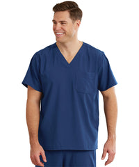 WonderWink INDY™ Unisex Scrub Tops (Navy) as shown in the UniFirst Unifrm Rental Catalog.