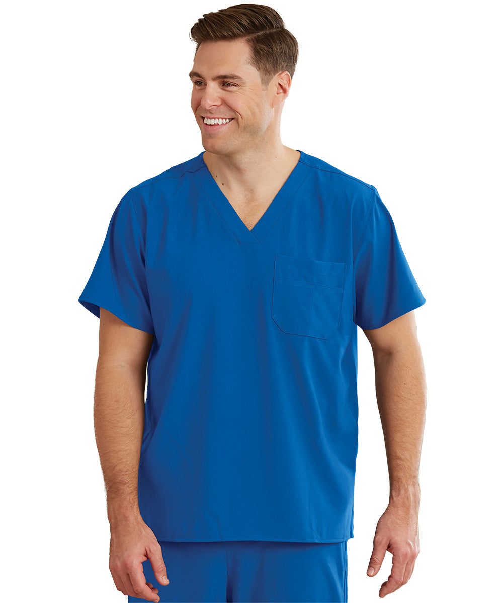 WonderWink INDY™ Unisex Scrub Tops (Royal Blue) as shown in the UniFirst Unifrm Rental Catalog.