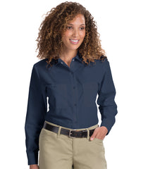 Navy Blue Women's Uniform Shirts Shown in UniFirst Uniform Rental Service Catalog