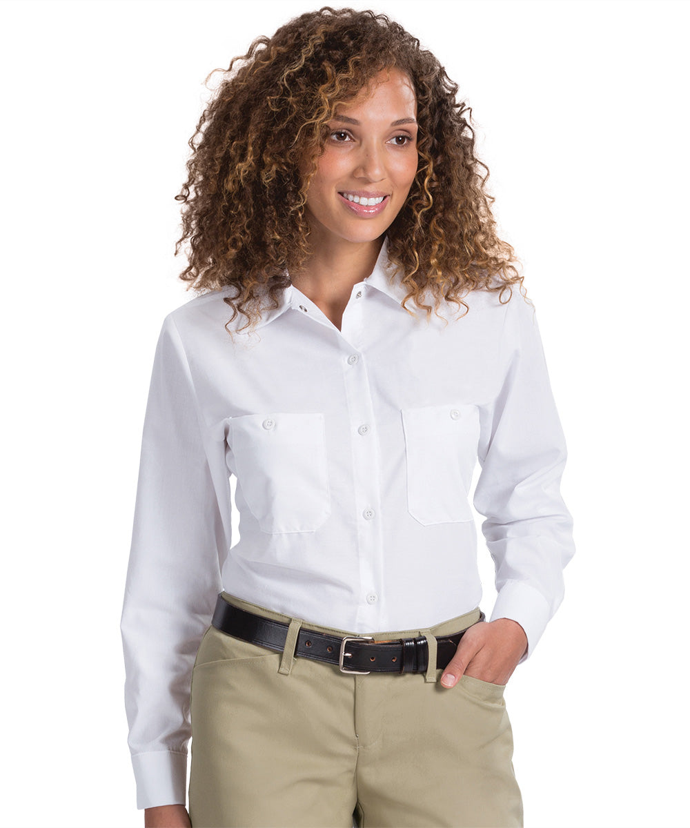 Women's White Uniform Shirts Shown in UniFirst Uniform Rental Service Catalog