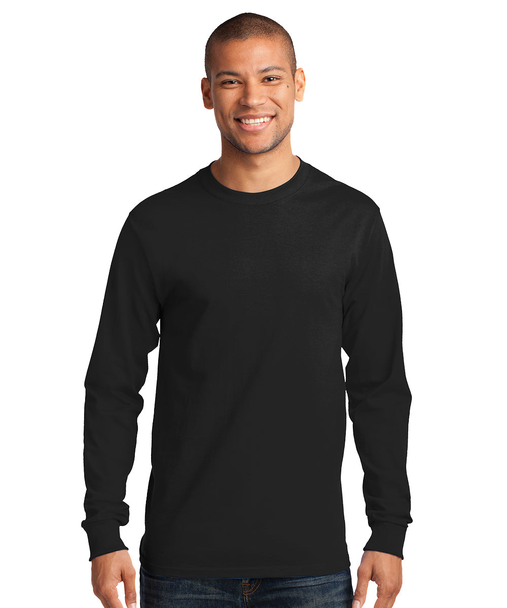 Men's Long Sleeve 100% Cotton Classic T-Shirts (Black) as shown in the UniFirst Uniform Rental Catalog.