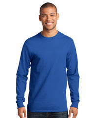 Men's Long Sleeve 100% Cotton Classic T-Shirts (Royal Blue) as shown in the UniFirst Uniform Rental Catalog.