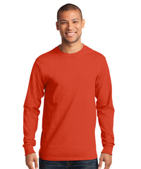 Men's Long Sleeve 100% Cotton Classic T-Shirts (Orange) as shown in the UniFirst Uniform Rental Catalog.