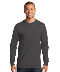 Men's Long Sleeve 100% Cotton Classic T-Shirts (Charcoal) as shown in the UniFirst Uniform Rental Catalog.