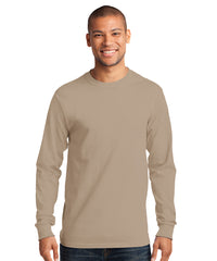 Men's Long Sleeve 100% Cotton Classic T-Shirts (Sand) as shown in the UniFirst Uniform Rental Catalog.
