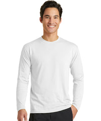 Men's Long Sleeve T-Shirts (White) as shown in the UniFirst Uniform Rental Catalog.