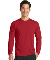 Men's Long Sleeve T-Shirts (Red) as shown in the UniFirst Uniform Rental Catalog.