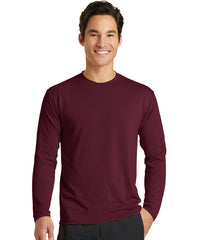 Men's Long Sleeve T-Shirts (Maroon) as shown in the UniFirst Uniform Rental Catalog.
