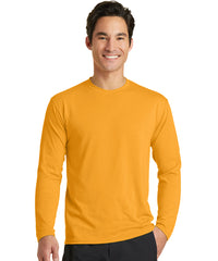 Men's Long Sleeve T-Shirts (Gold) as shown in the UniFirst Uniform Rental Catalog.