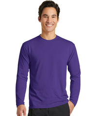 Men's Long Sleeve T-Shirts (Purple) as shown in the UniFirst Uniform Rental Catalog.