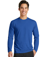 Men's Long Sleeve T-Shirts (Royal Blue) as shown in the UniFirst Uniform Rental Catalog.