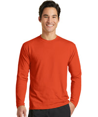 Men's Long Sleeve T-Shirts (Orange) as shown in the UniFirst Uniform Rental Catalog.