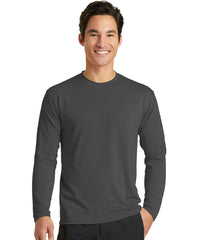 Men's Long Sleeve T-Shirts (Charcoal) as shown in the UniFirst Uniform Rental Catalog.