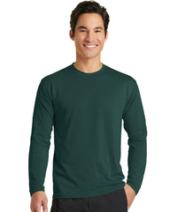 Men's Long Sleeve T-Shirts (Dark Green) as shown in the UniFirst Uniform Rental Catalog.