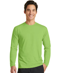 Men's Long Sleeve T-Shirts (Lime Green) as shown in the UniFirst Uniform Rental Catalog.