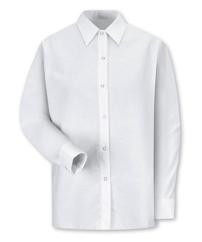 Women's Pocketless Food Service Shirts with Snap Cuffs