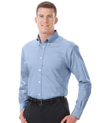 Light Blue Men's Pinpoint Dress Shirts Shown in UniFirst Uniform Rental Service Catalog