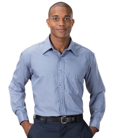Mini-Check Work Uniform Shirts