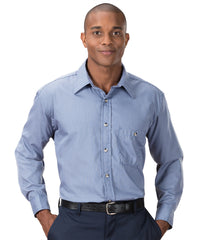 White/Blue Mini-Checks Shirts Shown in UniFirst Uniform Rental Service Catalog