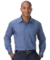 Blue & Grey Mini-Checks Shirts Shown in UniFirst Uniform Rental Service Catalog