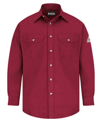 Bulwark® FR Uniform Shirts (Red) as shown in the UniFirst Uniform Rental Catalog.