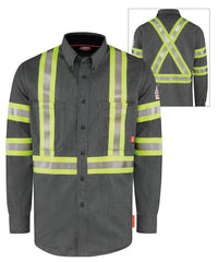 Bulwark® iQ Series® FR Shirts with Reflective Trim (Canada) in Dark Gray as shown in the UniFirst Uniform Rental Catalog