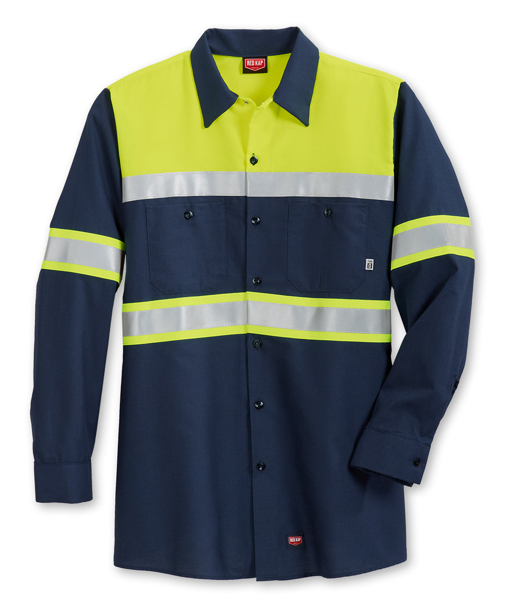 ANSI Class 1 High Visibility Ripstop Work Shirts