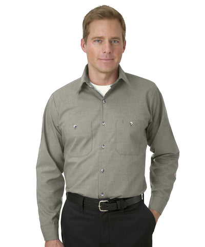 Light Green UniWeave® Exclusive MicroCheck Shirts  Shown in UniFirst Uniform Rental Service Catalog