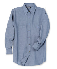 Light Blue Chambray Shirts Shown in UniFirst Uniform Rental Service Catalog