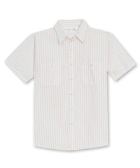White/Red BreezeWeave® Uniform Shirts Shown in UniFirst Uniform Rental Service Catalog