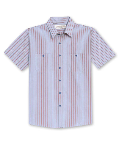 Breeze Weave® Short Sleeve Wide Striped Uniform Shirts
