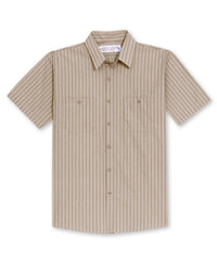 Tan/Brown BreezeWeave® Uniform Shirts Shown in UniFirst Uniform Rental Service Catalog