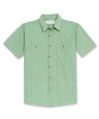 Lt.Green/Dk.Green BreezeWeave® Uniform Shirts Shown in UniFirst Uniform Rental Service Catalog